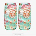 New Arrival 3D Print  Women Socks Comfortable Casual Cartoon Socks Unisex Low Cut Ankle Socks