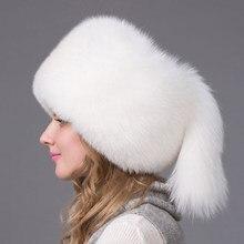 Invierno de las mujeres sombrero de cuero fox orejeras de mujeres rusas cap  Feng Lei la piel de mapache Sudadera con capucha de . a728d758e49