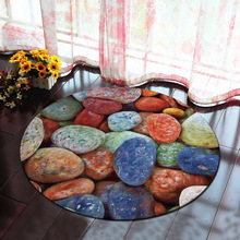 Nodic 3D Plant Boys Room Round Carpet Living Room Bedroom Home Decor Carpet Rug Children Kids Room Soft Play Area Rug Chair Mat cactus plant pattern water absorption area rug