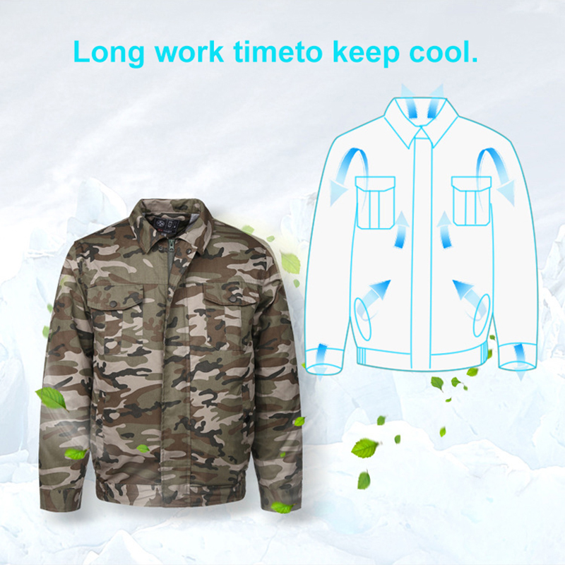 Image 4 - Air Conditioning Clothes Cooling Conditioned Fan Jacket For Outdoor High Temperature Cooling Jackets Working Fishing Hunting-in Safety Clothing from Security & Protection