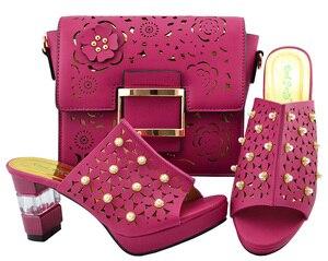 Image 4 - Italya Ayakkabı Ve Çanta!! Afrika ayakkabı ve çanta seti yüksek topuk İtalyan ayakkabı ile uyumlu çanta en çok satan bayanlar eşleşen ayakkabı YM007