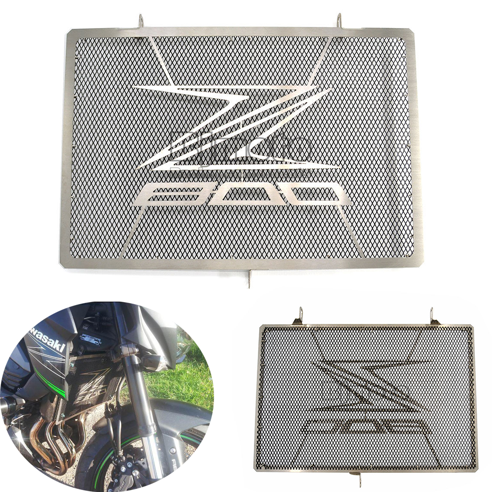 BJGLOBAL Motorcycle Stainless Steel Radiator Guard Protector Grille Grill Cover For Kawasaki Z800 Z 800 2013-16 Accessories Part for kawasaki z900 2017 motorcycle radiator guard gloss stainless steel grille bezel radiator net protective cover