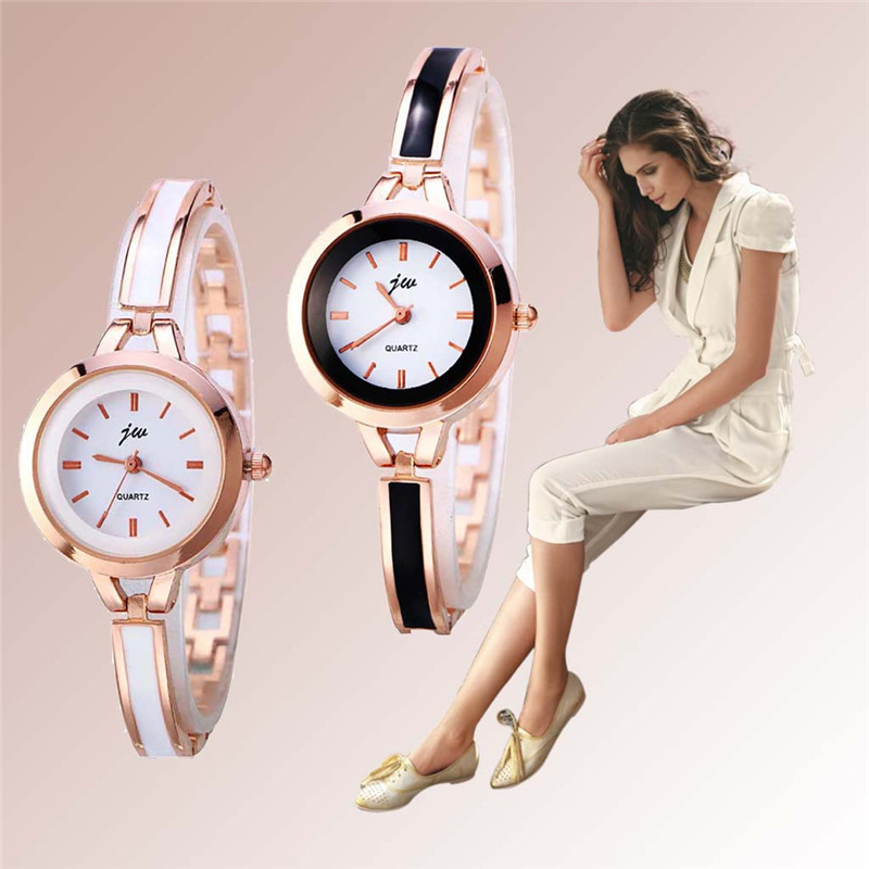 woman watches quartz analog bracelet small dial delicate. Black Bedroom Furniture Sets. Home Design Ideas