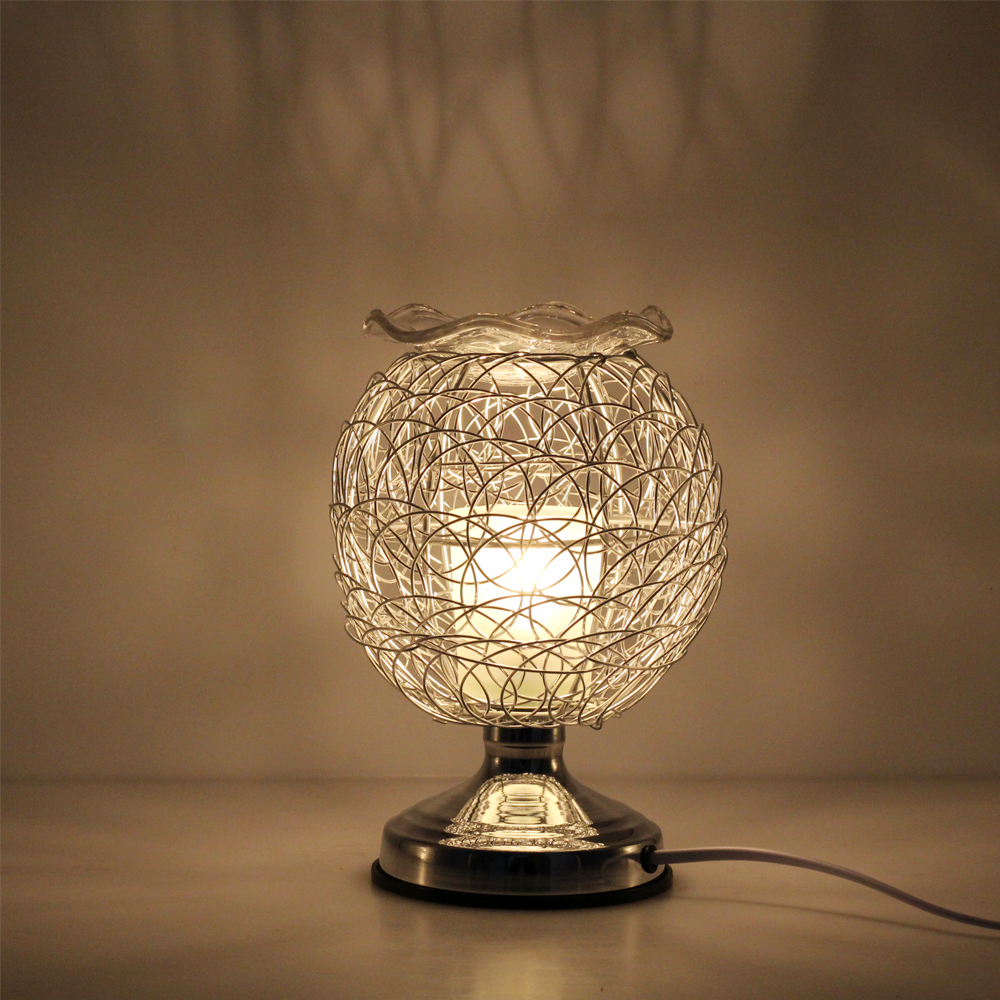 Dimmable Aromatherapy Nest Table Lamp 220V Electric Fragrance Essential Oil Lamp Air Aroma Diffuser Night Light Christmas Decor 5