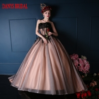 Black Ball Gown Princess Quinceanera Dresses Girls Beaded Sweetheart Masquerade Sweet 16 Dresses Ball Gowns Vestidos