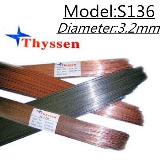 1KG/Pack Thyssen S136 of 3.2mm TIG Welding wires & Repairing Mould argon Soldering Wire Argon arc welding Plastic G414