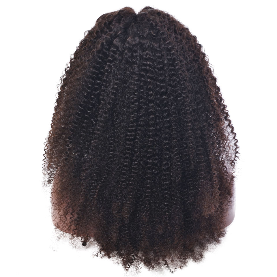 YVONNE Kinky Curly Full Lace Wigs Human Hair With Baby Hair Brazilian Virgin Hair Wigs Natural Color