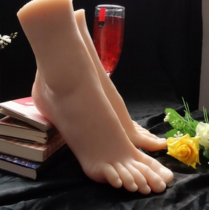New Sex Toy,Feet Fetish Toys for Man,Young Girl Lifelike Female Feet, Sex Product ,Feet Model for Sock Show 37 Size