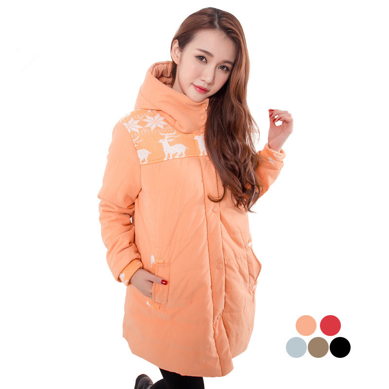 Winter Pregnant Women Coats Thicken Maternity Down Jacket Cotton Clothes for Pregnancy Women Overcoat Clothing Outwear C111