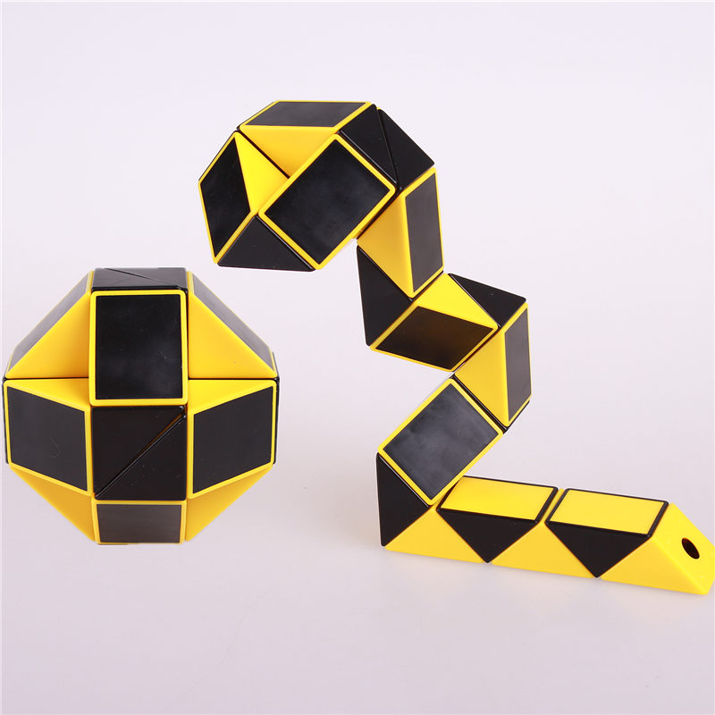 Magisk slange linjal puslespill leketøy 24 hastighet Blokker Snake Twist Puslespill Barn Educational Game Leker Magic Cube For Kids Gift
