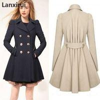 Особенно Женское пальто, английский стиль, женский весенний двубортный длинный плащ, пальто, плащ, ветровка, пальто, 5XL плюс