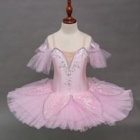 Professional Kids Girls Ballet Tutu Dress Pink Swan Lake Pancake Platter Ballerina Costumes Ballet Tutu For