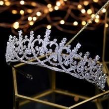 2018 nova moda barroco luxo cristal nupcial coroa tiaras luz ouro diadema tiaras para mulheres noiva casamento cabelo accessorie