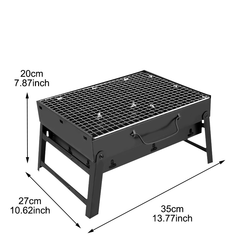 1Set Steel Outdoor Folding Barbecue Rack Wire Meshes Portable Household Charcoal Grills For Camping Campfire BBQ Tools