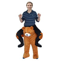 Adult Men Christmas Costumme Ride On Mascot Cosplay Oktoberfest Holiday Party Cloth