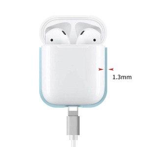 Image 4 - Nowy stylowy kolor cukierki silikonowy futerał na słuchawki Bluetooth dla Airpods pokrowiec ochronny do torby do ładowania Apple Airpods