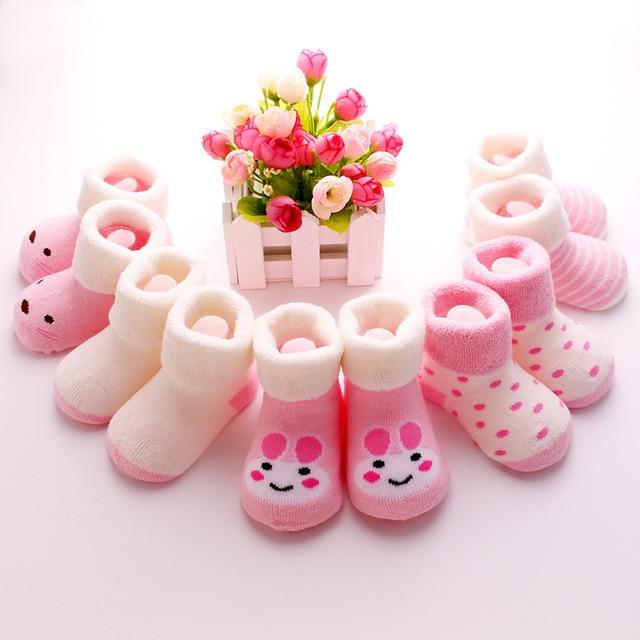 10 Pairs Пакет Детей носки детские носки гольфы детские носки утолщение хлопок 0-1 лет новорожденный ребенок петля кучи носки