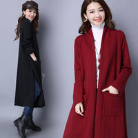 Windbreaker Female Autumn New Thickening Slim Long Sleeve Jacket Solid Color Cardigan Large Size Women Casual Sweater MZ2934