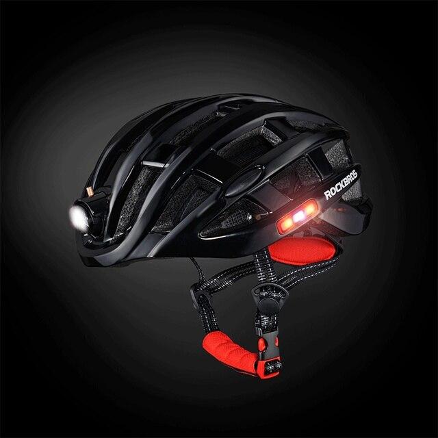 Rockbros luz ciclismo capacete da bicicleta ultraleve capacete integralmente moldado mountain road bicicleta mtb capacetes seguros das mulheres dos homens 57-62cm 2