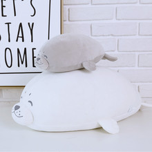 Sea World Animal Sea Lion Doll Seal Plush Toy Baby Sleeping Pillow Kids Stuffed Toys Gift for Girl 1pc 35cm/50cm