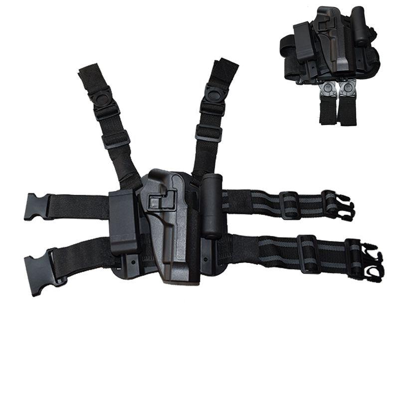 Askeri savaş silah bacak kılıfı tabanca kılıfı taktik sağ uyluk bacak kılıfı için Beretta 92/96/M9 tabanca dergi kılıfı ile