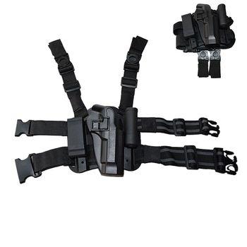 Walki Wojskowej Gun Noga Kabura Pistolet Case Taktyczna Prawa Udo Noga Kabura Dla Beretta 92/96/M9 Pistolet Z Etui Magazyn