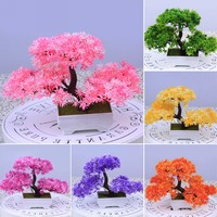 6 Colors Fake Resin Bonsai Artificial Flowers Tree Wedding Decoration Mayitr Home Decor