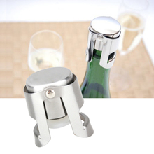 1pc Portable Stainless Latches and Silicone Sealer Champagne Sparkling Wine Bottle Stopper Sealer Bar Wine Plug