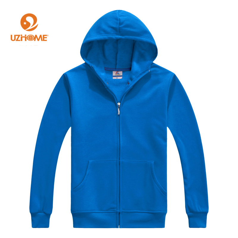 2017 Fashion Winter Autumn Thermal Mens Sizes Up to XXXL Solid Full Zipper Hooded Fleece Hoodies Men Casual Sweatshirts