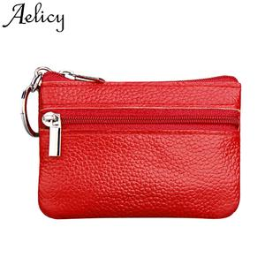 Aelicy Coin Purse Phone-Pocket Small Wallet Women's Zipper-Pouch Mini High-Quality Solid