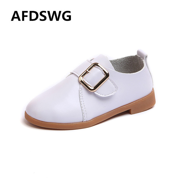 68e0ac69141b AFDSWG spring and autumn white PU waterproof soft pink girls leather shoes  princess girls shoes pink children leather shoes