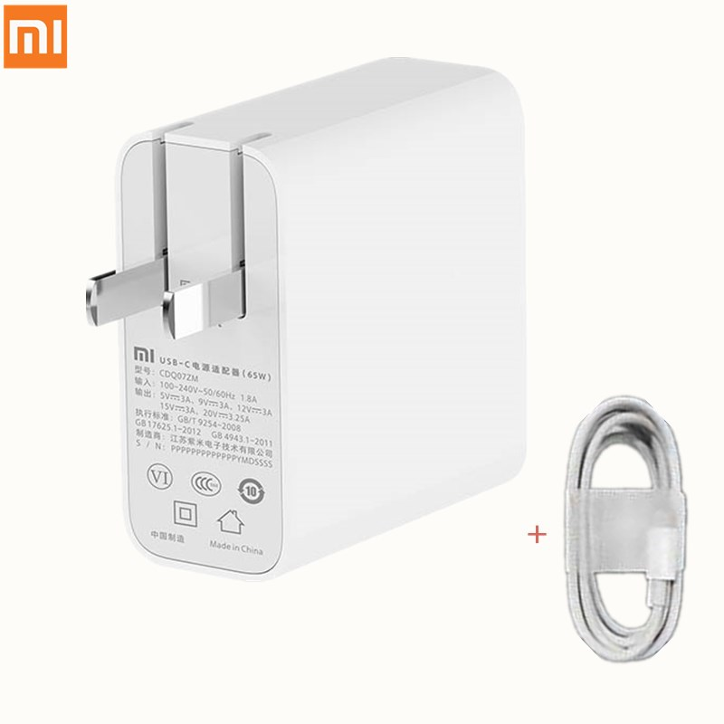 Original XiaoMi 65w USB-C Power Adapter Fast Charge Routing Home Charging Mobile Computer Charger Portable Type-C Interface image