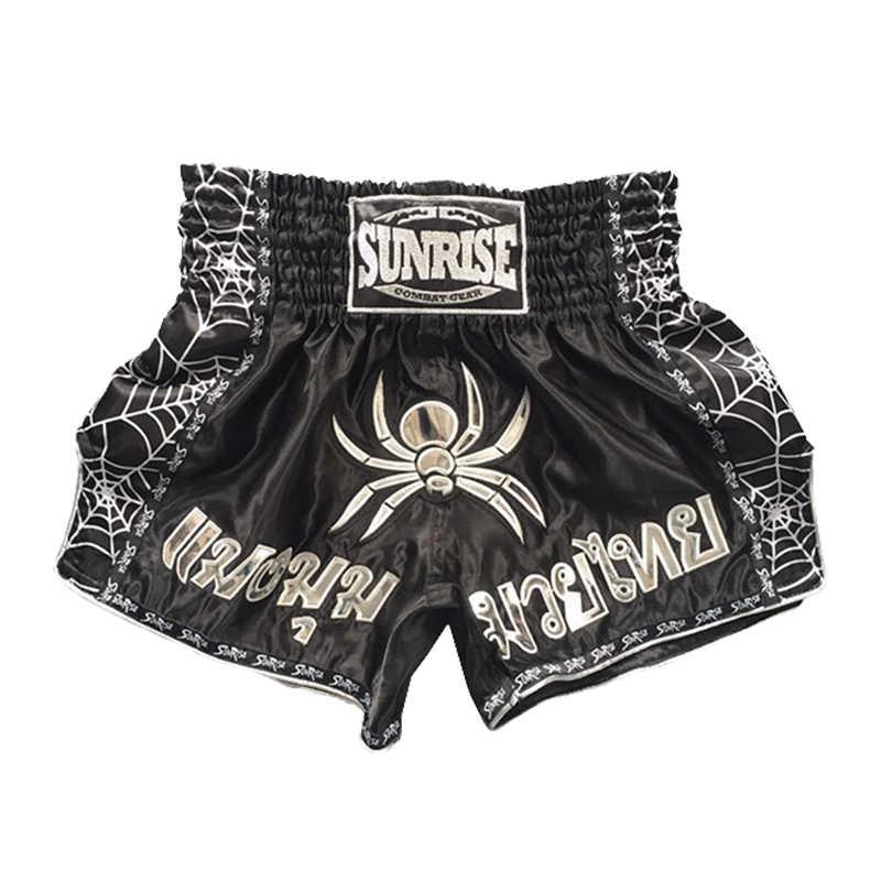 Matahari Terbit Spider MMA Celana Pendek Pria Muay Thai Celana Pendek Tinju Celana Pendek