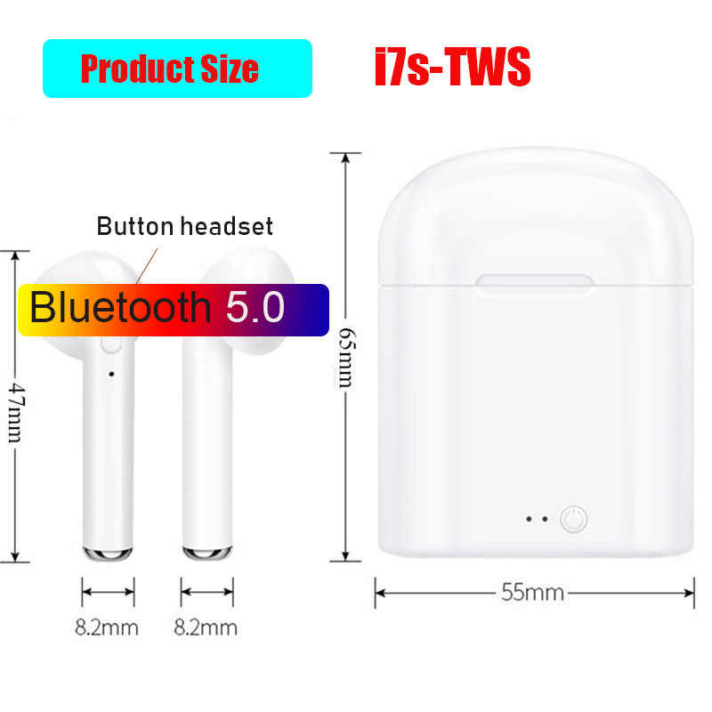 I7s TWS بلوتوث اللاسلكية سماعة ستيريو ياربود سماعة مع شحن مربع Mic جميع بلوتوث اللوحي ل Xiaomi فون سامسونج