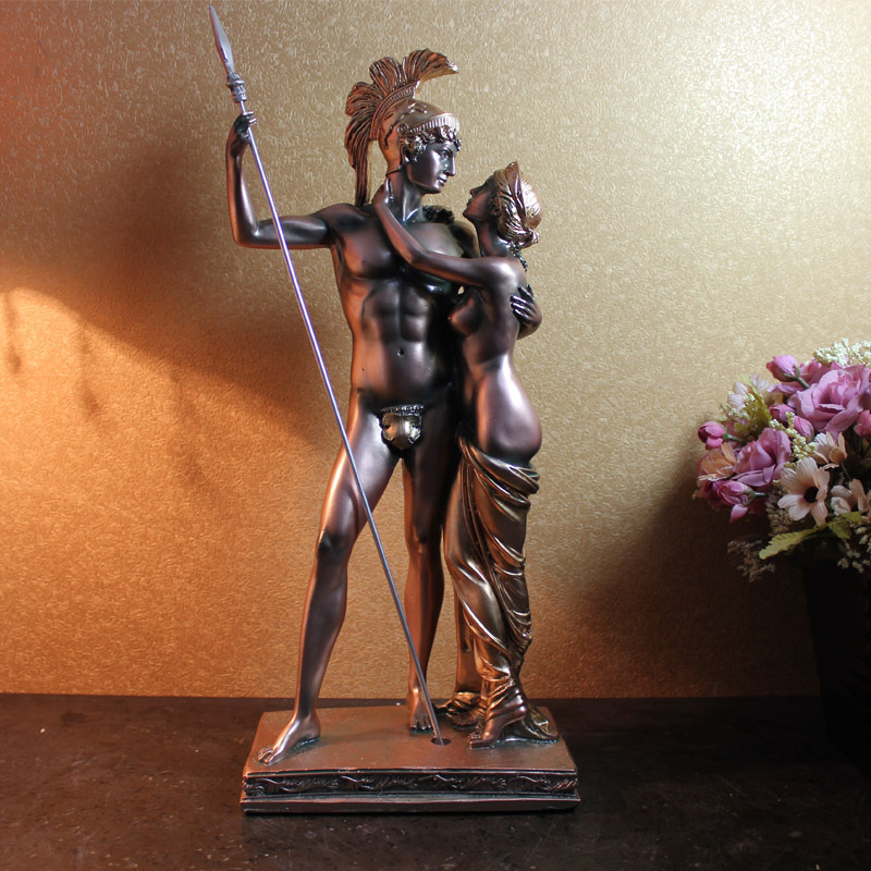 Antique roman warrior queen of egypt aristocratic noble sexy sculpture middle Age family furnishing Study domineering decoration