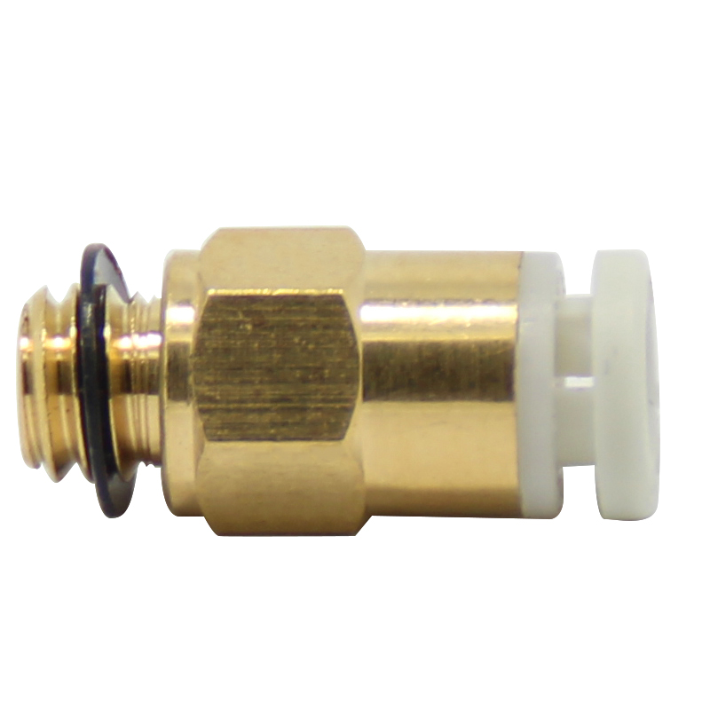5Pcs Pneumatic Fittings PC4-M6 Bore 4mm For 4mm PTFE Tube Connector Coupler