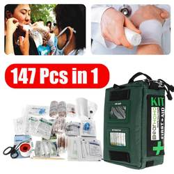 Mini Safe Camping Hiking Car 147Pcs First Aid Bag Kit Medical Emergency Kit Treatment Pack Outdoor Wilderness Survival