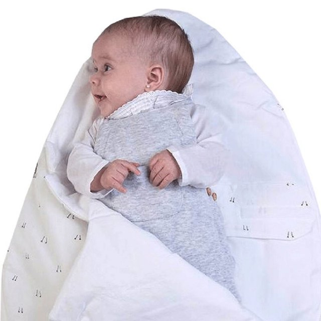 Newborn Outside Sleeping Bags Baby Girls Boys Cartoon Sleeping Bags Cotton Winter Warm Strollers Bed Swaddle Blanket
