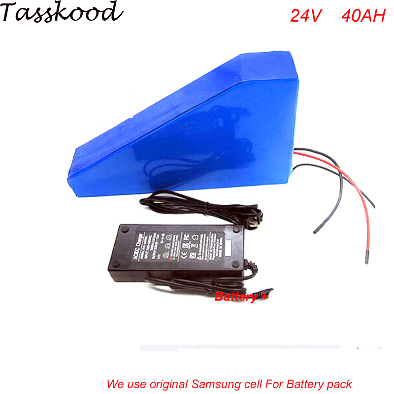 Triangle style 24V 40AH Lithium Battery Electric Bicycle Scooter 24V 700W Battery Lithium-ion ebike with bag For Samsung Cell colaier 7s5p new victory 24v 29 4v 10ah lithium battery electric bicycle 18650 24 vli ion battery 29 4v2a charge