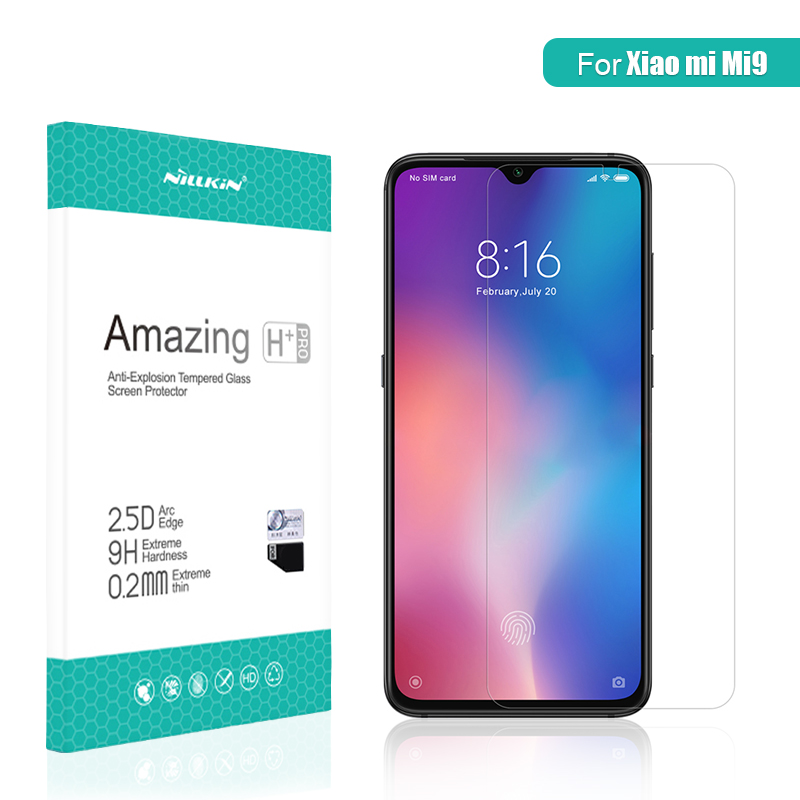 For xiaomi mi 9 glass Screen Protector 6.39 NILLKIN Amazing H/H+PRO CP+ XD 9H mi9 Tempered Glass Protector mi 9 for xiaomi glass-in Phone Screen Protectors from Cellphones & Telecommunications