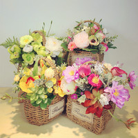 INDIGO Exclusive Sales Flower Basket Flower Arrangement Gift Bouquet Artificial Flower Party Event Free Shipping