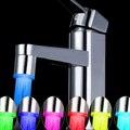 7 Цветов Прыгать Изменения СВЕТОДИОДНЫЙ Свет Вода Powered Бассейна Кран Кухонный Кран Аксессуары