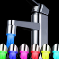 7 Color Jump Change LED Light Water Powered Basin Tap Kitchen Faucet Accessory