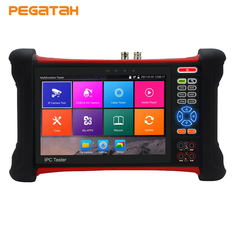 цена на New 7 inch 8MP H.265 4K Camera Tester IP AHD TVI CVI CVBS 5 in 1 CCTV tester with Cable tracer,Digital Multimeter, cctv tester