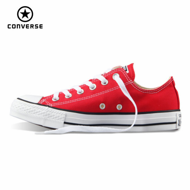 Первоначально конверс все ботинки холстины звезды женщины мужчина унисекс кроссовки низкие классические женщины скейтбординг обувь красного цвета бесплатная доставка