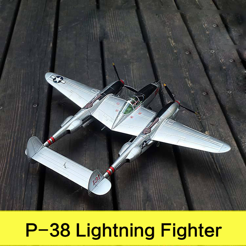 Military Alloy Airplane Model sLockheed P 38 Lightning Fighter Second World War Classical Flighter Diecast Scale Model Toys 1:48