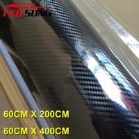 60cm*200cm/Roll Super quality Ultra Gloss 5D Carbon Fiber Vinyl Wrap 4D Texture Super Glossy 5D Carbon Film