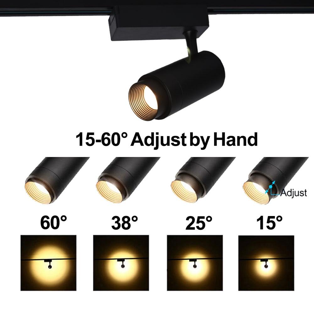 Beam Angle Adjustable COB LED Track Light 30W 20W 10W Rail SpotLight Led Rail Track Lamp For Store Shop Mall Exhibition Lighting