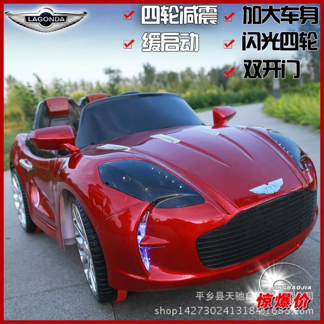 2016 New Arrival Aston Ma children electric car baby can sit four wheel electric vehicle remote control ride on toy car child