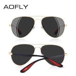 Image 4 - AOFLY 브랜드 디자인 클래식 편광 선글라스 남자 여자 운전 파일럿 프레임 태양 안경 남성 고글 UV400 Gafas 드 솔 AF8186